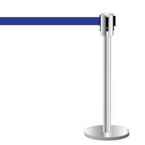 Absperrpfosten mit Absperrband, blau