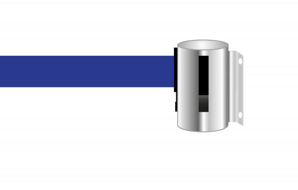 Absperrband zur Wandmontage, blau
