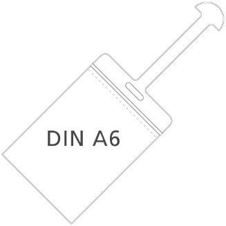 DIN A6 Hochformat mit Kofferlasche (Kofferanhänger)