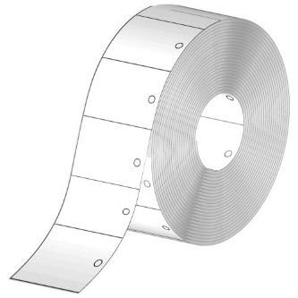 Stückwarenanhänger, weiß, 30 x 40 mm, Rolle