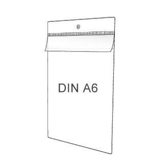 Preisschildhülle DIN A6 Hochformat mit Klappe
