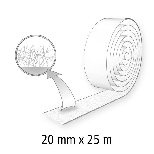 Klettband (Flausch), 20 mm breit, 25 m lang
