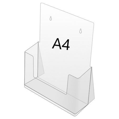 Prospektbox, DIN A4, 1-Fach, stehend oder hängend