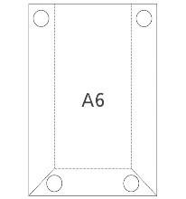 Hart-PVC Tasche DIN A6 Hochformat