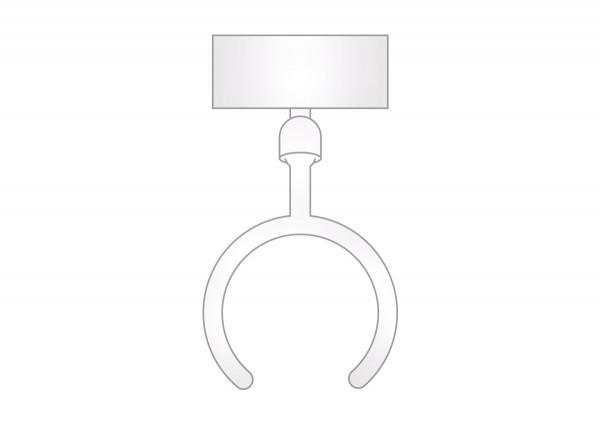 Displayhalter für Rohre, weiß