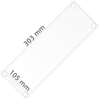 Hart-PVC Tasche für Einleger DIN A4 hoch und DIN A6 breit