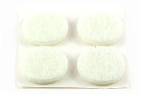 Filzpunkt, weiß, 15 mm Ø