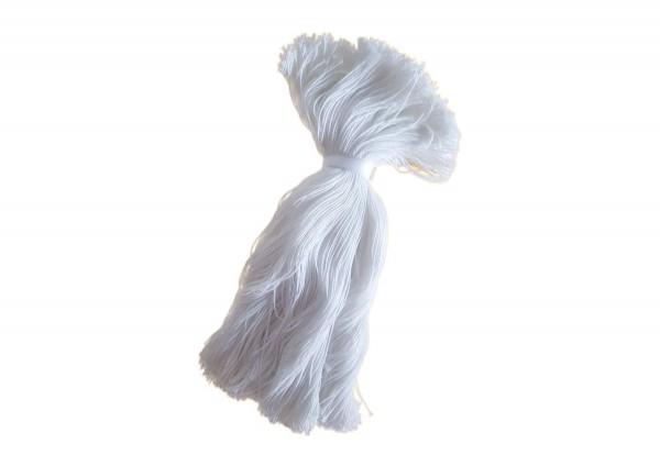 Baumwollfaden für Etiketten 20 cm, weiß