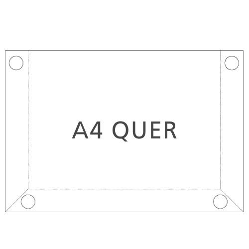 Hart-PVC Tasche DIN A4 Querformat