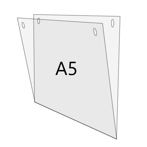 U-Hülle DIN A5 zum Aufhängen, Querformat