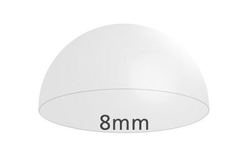 Elastikpuffer, klar, 8 mm Ø