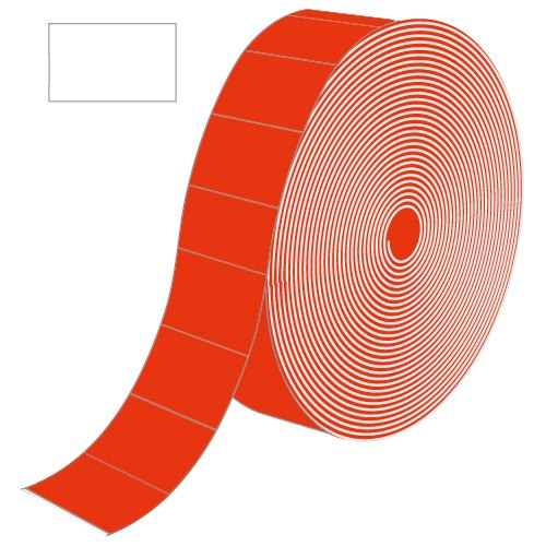 Etiketten für Contact, rot, rechteckig