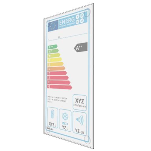 Energielabel-Tasche selbstklebend 116 x 224 mm