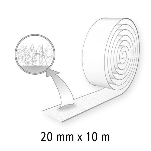 Klettband (Flausch), 20 mm breit, 10 m lang