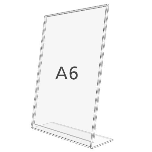 L-Aufsteller DIN A6, Hochformat