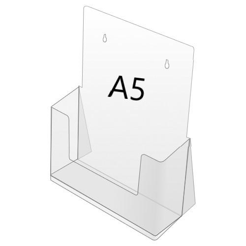Prospektbox, DIN A5, 1-Fach, stehend oder hängend