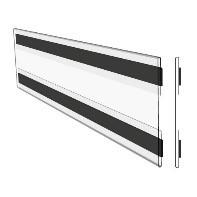 Hart-PVC Tasche/ C-Hülle, magnetisch, 185 x 75 mm