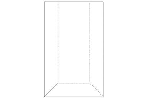 Hart-PVC-Tasche für Einleger 150 x 275 mm