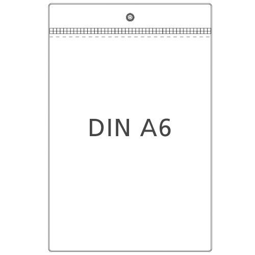 Preisschildhülle DIN A6 Hochformat mit Metallöse