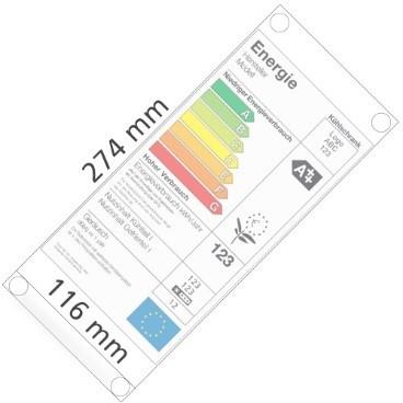 Energielabel-Tasche, selbstklebend, Hart-PVC