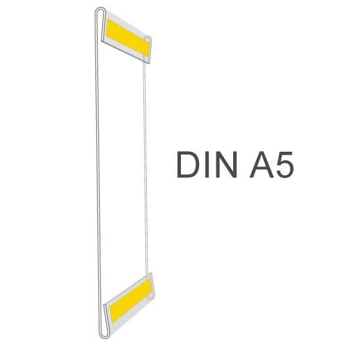 Hart-PVC Tasche/ C-Hülle DIN A5 Hochformat