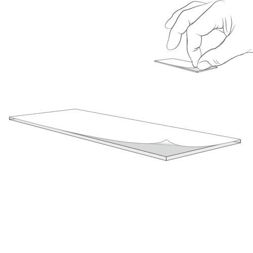 Klebepunkt, weiß, 17 x 45 mm