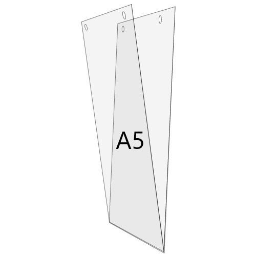 U-Hülle DIN A5 zum Aufhängen, Hochformat