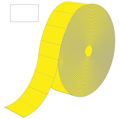 Etiketten für Contact, gelb, rechteckig