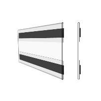 Hart-PVC Tasche/ C-Hülle, magnetisch, 93 x 75 mm