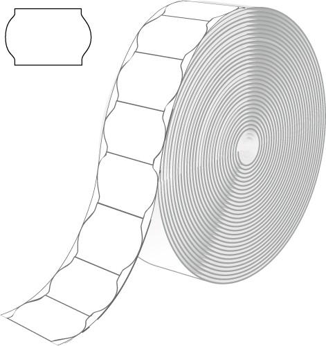 Etiketten für Contact, weiß, wellenförmig