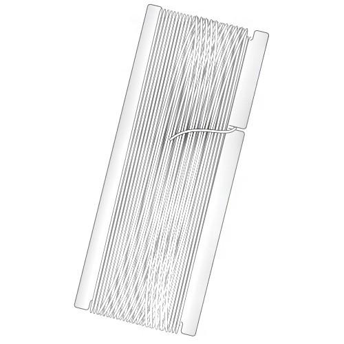 Gewebegummiband, weiß, 100 m