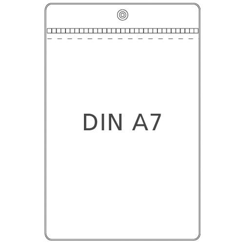 Preisschildhülle DIN A7 Hochformat