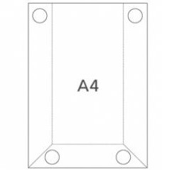 Hart-PVC Tasche DIN A4 Hochformat
