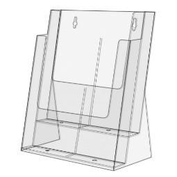Prospektbox, DIN 4, 2-Fach, stehend oder hängend