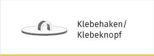 Klebehaken / Klebeknopf