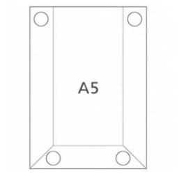 Hart-PVC Tasche DIN A5 Hochformat