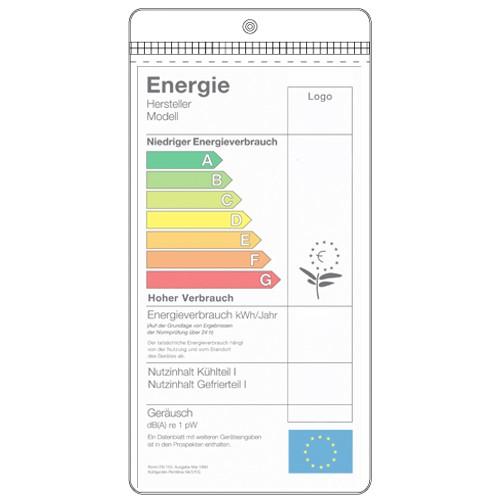 Energie-Etikett-Hülle für Leuchtmittel
