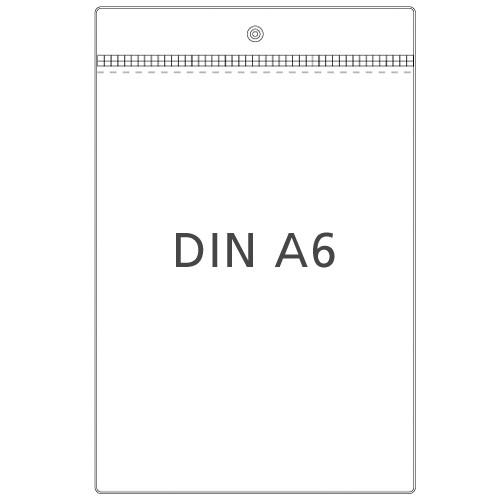 Preisschildhülle DIN A6 Hochformat