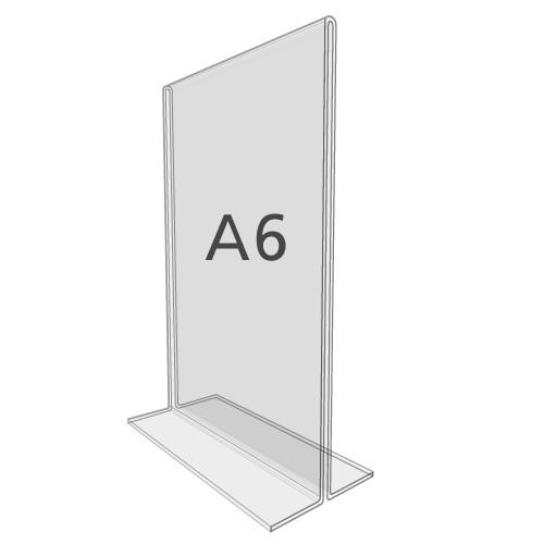 T-Aufsteller DIN A6, Hochformat